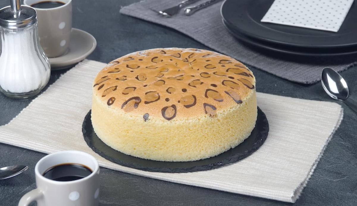 Japanese Leopard Spot Cheesecake | Sponge Cake