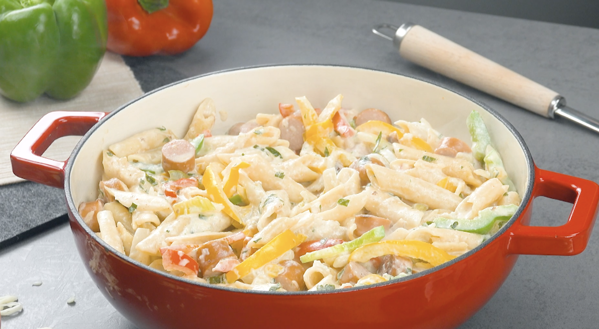 Sausage And Pepper Penne Pot