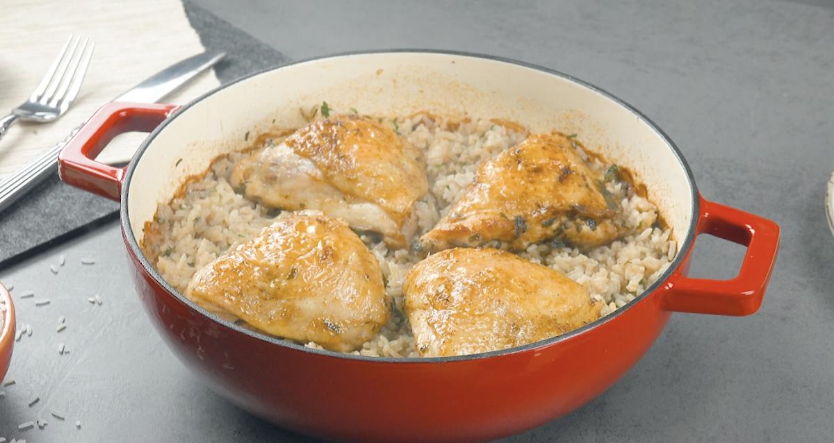 Garlic Herb Chicken With Rice