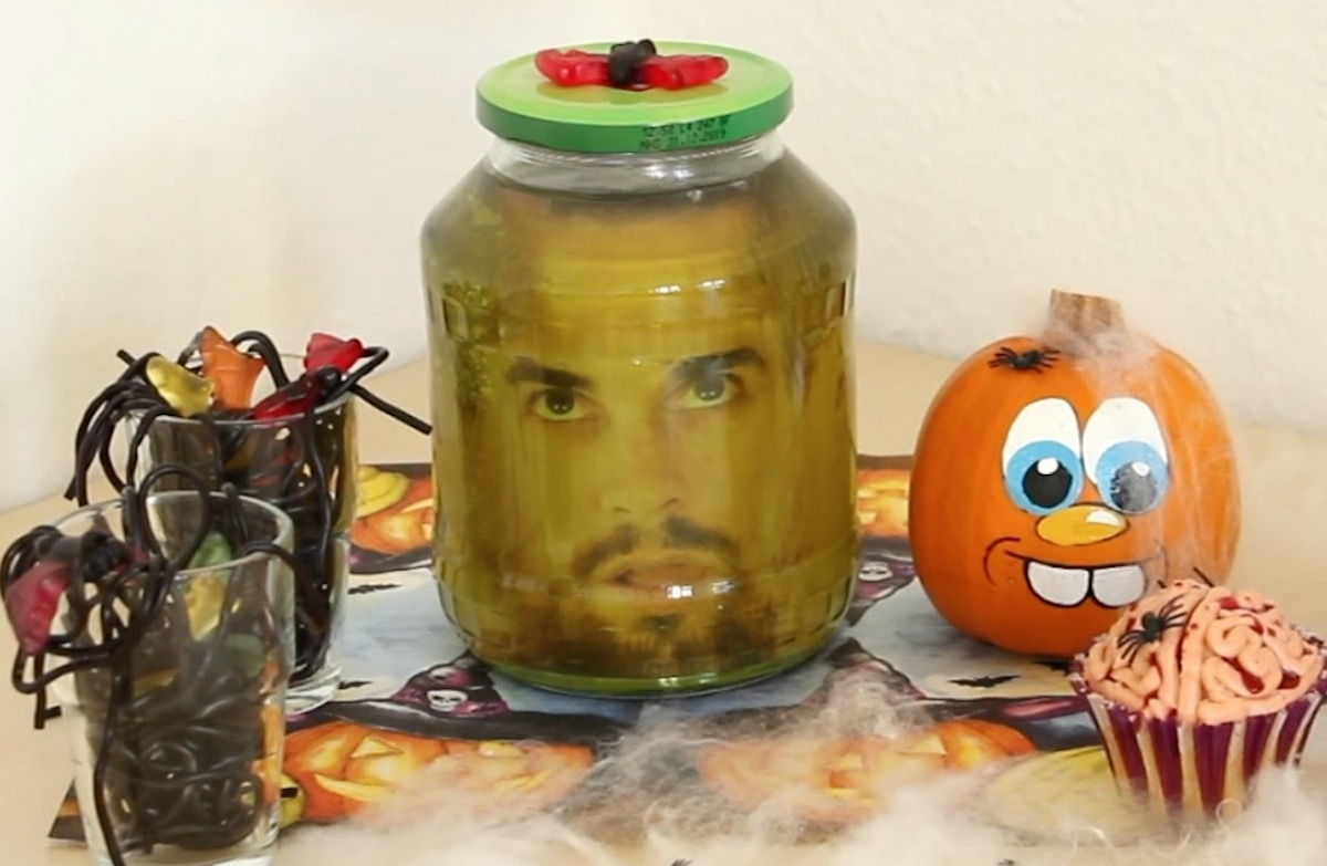 Halloween Head In A Glass